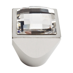 Cabinet Knob in Matte Chrome Finish