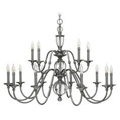 Hinkley Lighting Eleanor Polished Antique Nickel Chandelier