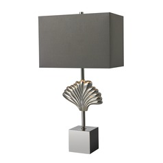 Dimond Lighting Polished Chrome Table Lamp with Rectangle Shade