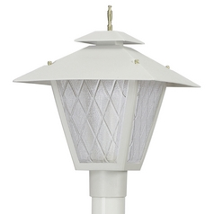 Wave Lighting Marlex Colonial White Post Light
