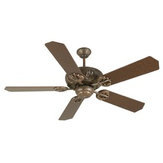 Craftmade Lighting Cordova Aged Bronze Textured Ceiling Fan Without Light