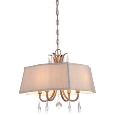 Minka Vintage Gold Pendant Light with Rectangle Shade