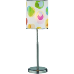 Modern Table Lamp in Polished Steel Finish