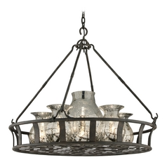 Pendant Light with Mercury Glass in Chianti Bronze Finish