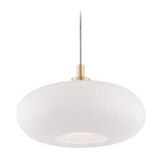 Holtkoetter Modern Low Voltage Mini-Pendant Light with White Glass