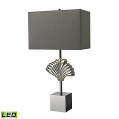 Dimond Lighting Polished Chrome LED Table Lamp with Rectangle Shade