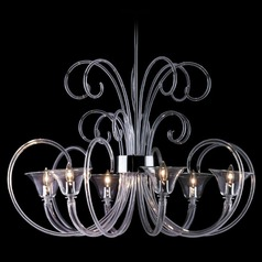 Oggetti Lele Satin Nickel Chandelier