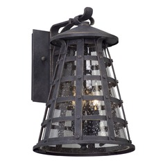 Seeded Glass Outdoor Wall Light Vintage Iron Troy Lighting