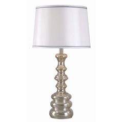 Kenroy Home Ripling Acid Mercury Table Lamp with Empire Shade