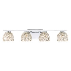 Quoizel Lighting Meridian Polished Chrome LED Bathroom Light