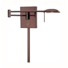 Modern LED Swing Arm Lamp in Chocolate Chrome Finish