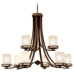 Kichler 2-Tier 9-Light Chandelier in Olde Bronze