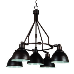 Farmhouse Industrial Chandelier Bronze Timarron by Craftmade Lighting
