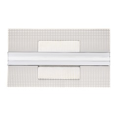 Modern LED Sconce Polished Chrome Platinum Collection Bravo by Quoizel Lighting