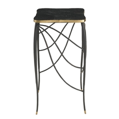 Currey and Company Lighting Black Bronze / Will Merill Gold Leaf / Green Wax Coffee & End Table