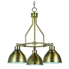 Farmhouse Industrial Chandelier Brass Timarron by Craftmade Lighting