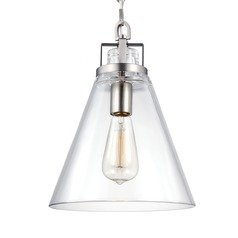 Feiss Frontage Satin Nickel Mini-Pendant Light