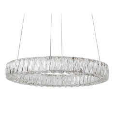 Crystal Chrome LED Pendant with Clear Shade 4000K 1680LM