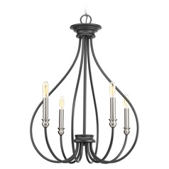 Progress Lighting Whisp Graphite with Brushed Nickel Accents Mini-Chandelier
