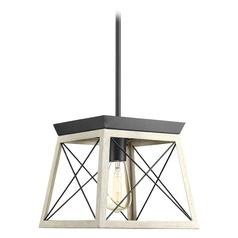 Progress Lighting Briarwood Graphite Pendant Light