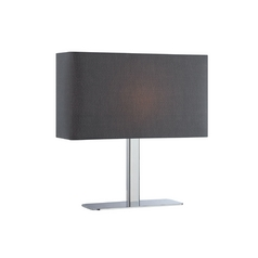 Modern Console & Buffet Lamp with Black Shades in Chrome Finish