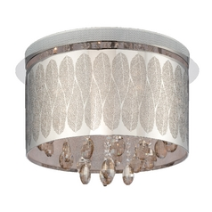Lite Source Lighting Giustina Chrome / Crystal Flushmount Light