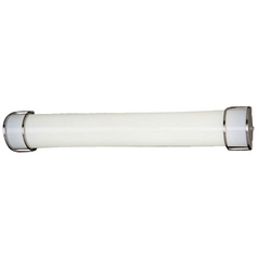 Energy Efficient Brushed Nickel Bathroom Light - Vertical or Horizontal Mounting