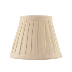 Clip-On Empire Pleated Cream Lamp Shade