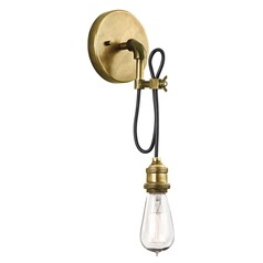 Brass Exposed Bulb Sconce