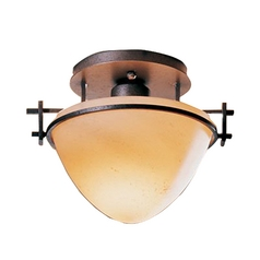 Forged Iron Semi-Flushmount Ceiling Light