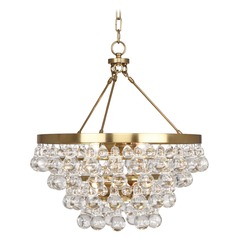 Robert Abbey Bling Antique Brass Mini-Chandelier