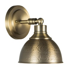 Farmhouse Industrial Sconce Brass Timarron by Craftmade Lighting