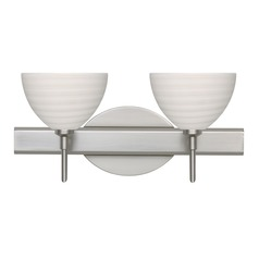 Besa Lighting Brella Satin Nickel LED Bathroom Light
