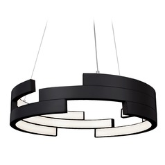 Kuzco Lighting Modern Black LED Pendant 3000K 3260LM
