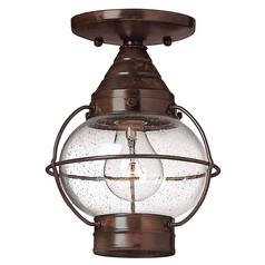 LED Close To Ceiling Light with Clear Glass in Sienna Bronze Finish