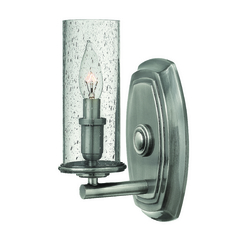 Seeded Glass Sconce Polished Antique Nickel Hinkley Lighting
