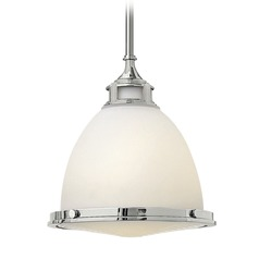 Hinkley Lighting Amelia Chrome LED Mini-Pendant Light with Bowl / Dome Shade