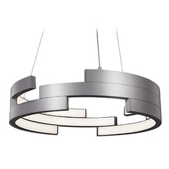 Kuzco Lighting Modern Brushed Nickel LED Pendant 3000K 3260LM