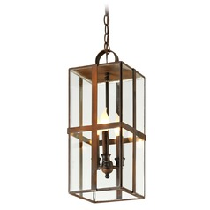 Troy Lighting Rutherford Heirloom Brass Outdoor Hanging Light