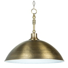 Farmhouse Industrial Pendant Light Brass Timarron by Craftmade Lighting