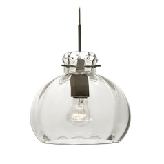 Besa Lighting Pinta Bronze Pendant Light with Bowl / Dome Shade