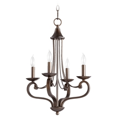 Quorum Lighting Lariat Oiled Bronze Mini-Chandelier