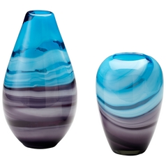 Cyan Design Callie Turquoise & Purple Vase