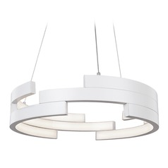 Kuzco Lighting Modern White LED Pendant 3000K 3260LM