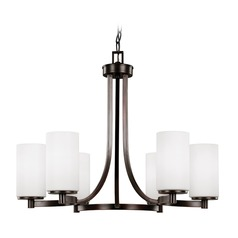 Sea Gull Lighting Hettinger Burnt Sienna LED Chandelier
