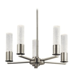 Elan Lighting Glacial Glow Brushed Nickel LED Chandelier
