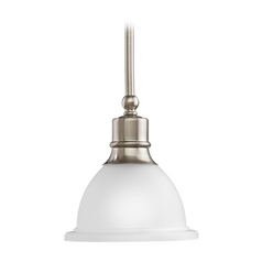 Progress Mini-Pendant Light with White Glass