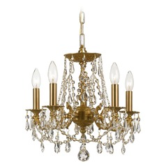 Crystorama Lighting Gramercy Aged Brass Crystal Chandelier