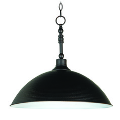 Jeremiah Timarron Aged Bronze Pendant Light with Bowl / Dome Shade