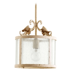 Quorum Lighting Florence Persian White Pendant Light with Drum Shade